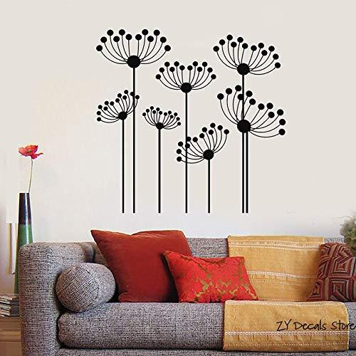 wopiaol Abstrakte Blumen Wandtattoos Home Wanddekoration Wohnzimmer Sofa Hintergrund Vinyl Wandtattoo Blumenbeet Kunst Aufkleber
