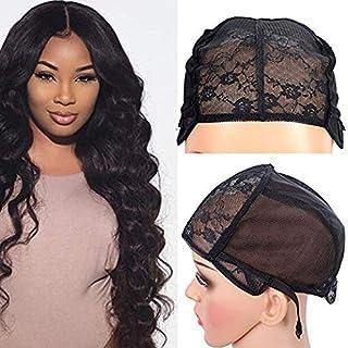 2 stuks dubbele kanten pruik caps voor het maken van pruiken haarnet verstelbare bandjes zwarte pruik cap voor vrouwen