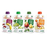 Happy Baby Organic Stage 2 Baby Food Simple Combos Variety Pack, 4...