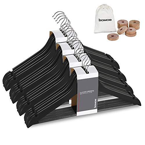 bomoe set di 20 grucce - appendiabiti in legno per giacche e vestiti - appendiabiti in legno certificato FSC®, girevole a 360° - Sjard