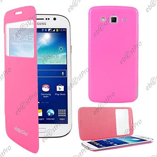 ebestStar - Funda Compatible con Samsung Grand 2 Galaxy G7105 G7102 G7100 Carcasa Ventana Vista Cover, Cuero PU Funda Libro Billetera, Rosa [Aparato: 146.8 x 75.3 x 8.9mm, 5.25'']