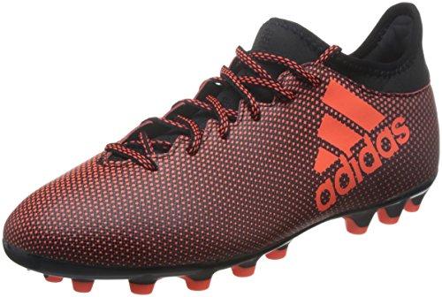 adidas X 17.3 AG, Botas de fútbol para Hombre, Negro (Negbas/Rojsol/Narsol), 45 1/3 EU