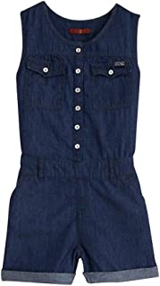 Girl's Chambray Romper