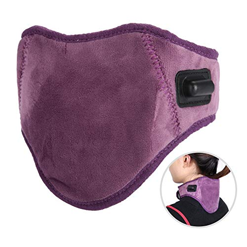 Infrarot Heizung Halskrause, Nackenstütze Wrap Elektrische Gebärmutterhalskette Hot Compress Massage USB beheizt Pad für Nackenschmerzen, Verletzungen, steif, Müdigkeit