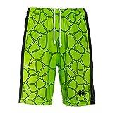 Errea Republic Trend ss18 Man Shorts Pantaloncini Costume Uomo Verde Fluo Nero (M)