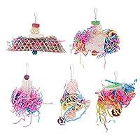オウムのおもちゃ、鳥の咬傷のおもちゃの中庭の家の中庭のための耐久性のある吊り下げ