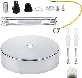 Techo Rosa Cable colgante Agarre Flex Abrazadera Placa para instalación de luz 100 mm Elija lámpara colgante Multi Color Conjunto completo Cromo
