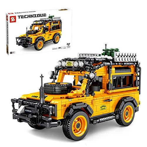 Tewerfitisme 1053 + piezas de construcción de vehículos todoterreno, arrastra piedras de montaje de coche, modelo de piezas pequeñas de construcción de partículas, juguete compatible con Lego