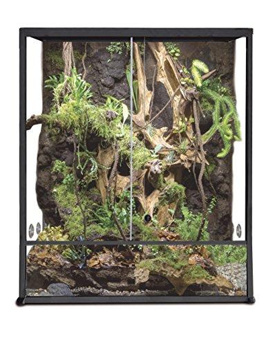 Reptiles Planet Elegance Terrarium für Reptilien/Amphibien, Aluminium, 30 x 30 x 45 cm, Schwarz montiert