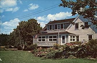Rock Gardens Inn Sebasco Estates, Maine Original Vintage Postcard