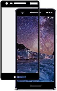 شاشة حماية ثلاثى الابعاد زجاجى من اينكس لاجهزة نوكيا 2.1 - أسود