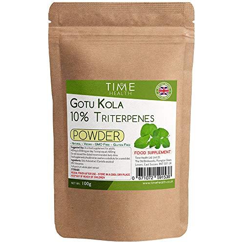 Gotu Kola Pulver – 10% Triterpene – Vollspektrum Ganzer Pflanzenextrakt (100 g Pulver pro Beutel)