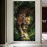 BLLXMX Arte de Animales Pinturas de Leopardo Pantera de Lujo en Lienzo Cuadros de Pared para Sala de Estar Arte de Pared Carteles Impresiones Decoración para el hogar-50x100cm Sin Marco