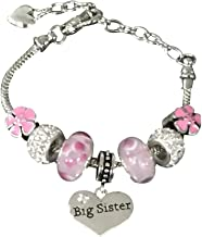 Infinity Collection Sister Bracelet -Sister Jewelry- Big Sister Charm Bracelet, Pink Big Sister Bracelet- Gift for Sisters