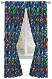 """Jay Franco Marvel Avengers Fighting Team 84"""" Inch Drapes - Beautiful Room Décor & Easy Set Up, Bedding - Curtains Include 2 Tiebacks, 4 Piece Set (Official Marvel Product)"""