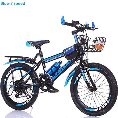 AUTOKS Vélo 18/20 Pouces Enfant Montagne 7 Vitesses Enfants vélo Roue Unisexe BMX