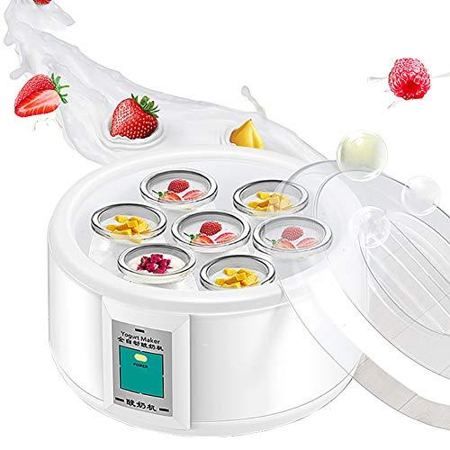 QQO Fabricante De Yogur, 1.5L Automática Fabricante De Yogur con 7 Tarros...