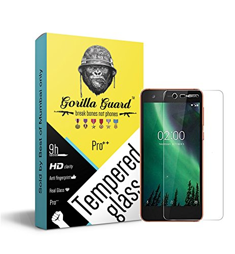 Gorilla Guard HD Clear Tempered Glass Screen Protector for Nokia 2 Pro Series 8, 5-inch