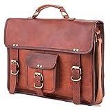 Berliner Bags Umhängetasche Berlin M aus Leder Laptoptasche 15 Zoll Ledertasche Vintage Herren Damen Braun