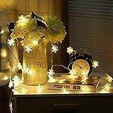 Cadena de LED de decoración de árbol de Navidad LED copo de nieve boda al aire libre día de Navidad cadena de luz Batería 6m60 leds