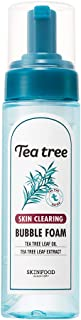SKINFOOD Tea Tree Skin Clearing Bubble Foam 6.76 oz (200ml) - Mild Bubble Facial Foam for Senstivie and Oily Acne Prone Skin, Moisturizing & Soothing