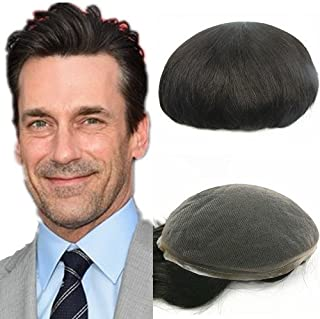N.L.W. European virgin human hair toupee for men with SOFT THIN Super Swiss lace,..
