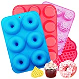 Silicone Donut Mould,Icnow 4 Pac...