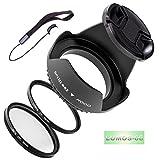Lumos Juego de 5con 62mm parasol filtro UV CPL filtro polarizador lente Tapa y Soporte para su cámara objetivo Tamron 70–30018–27018–20090mm 2.8para Canon Nikon Sony