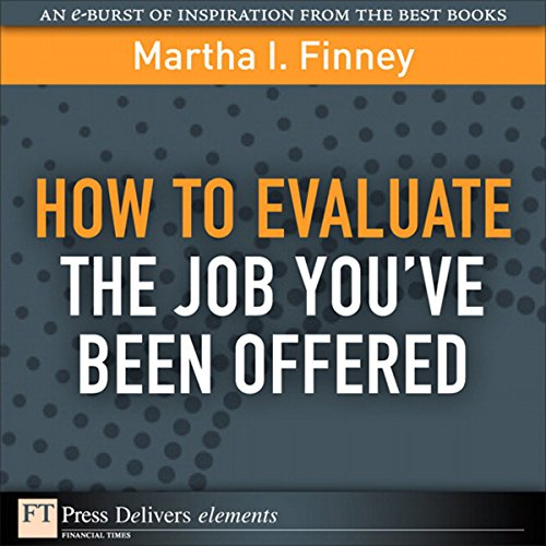 How to Evaluate the Job You've Been Offered cover art