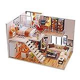 TOMMY LAMBERT Puppenhaus DIY Landhaus Handarbeit Modell Loft & Villa montiert Spielzeug Miniatur...