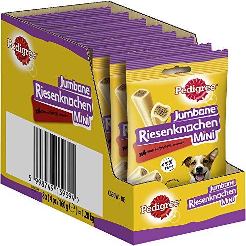 Pedigree Hundesnacks Riesenknochen für kleine Hunde mit Rind & Geflügel, 32 Stück (8 x 4 Stück)