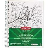 Derwent Academy Heavyweight Paper Sketchbook, Wirebound, 70 Sheets, 11