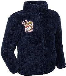 Brandsseller Kinder Fleece Jacke Stehkragen Kuscheljacke mit Motiven im Stil von Paw Patrol (110/116, Blau/Motiv 2)