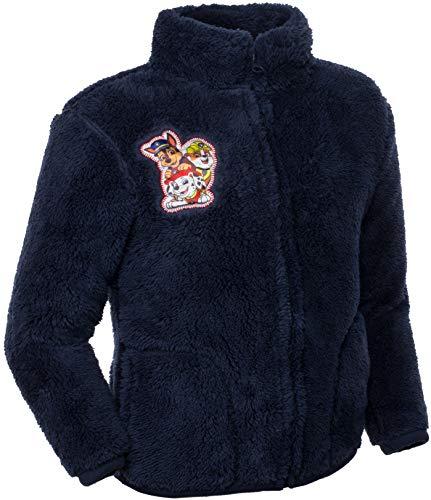 Brandsseller Kinder Fleece Jacke Stehkragen Kuscheljacke mit Motiven im Stil von Paw Patrol (98/104, Blau/Motiv 2)
