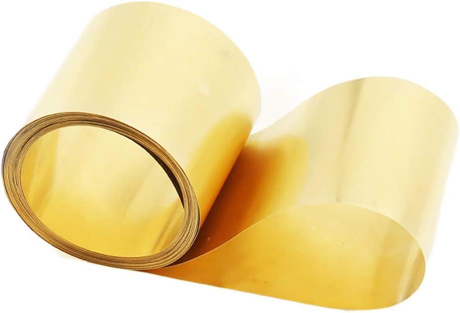 WANGZHENG Brass Foil Roll Metal Plat Sheet H62 Cu Metal Sheet Thin Copper Roll for DIY Crafts Electrical Materials Length:1000mm,1000mm x 100mm x 0.2mm