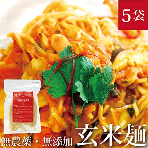 HIRYUの玄米麺 100g×5pc パスタ 自然栽培(無農薬・無肥料) (細麺)