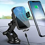Wireless Car Charger, SUPERDANNY 15W Max Fast Charging Auto Clamping Dashboard Windshield Air Vent Car Phone Mount for iPhone 11/11 Pro/11 Pro Max/XS Max/XS/XR/X/8/8 Plus/Samsung Galaxy S20/S10/Note10