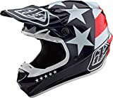 Troy Lee Designs 2021 SE4 Polyacrylite Helmet with MIPS - Freedom (X-Large) (RED/White)