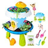 everlaste Fairy Garden Kits DIY Miniature Gardening Magical Cottage Play Set with Light Sound Seeds Soil Indoor Outdoor Play Activity Gardening Tool Set Toys for Girls and Boys Kids