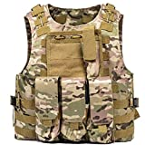 Leons tactic MOLLE Vest – Tactical Vest for Airsoft, Paintball – Tactical Military Vest with Multicam Pattern –...