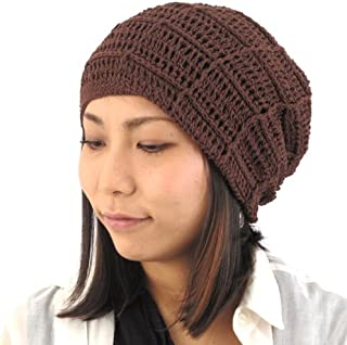 fb9ceae9 9 · CHARM Mens Summer Beanie Cotton - Womens Crochet Slouch Cap Hand Made  Chemo Hat