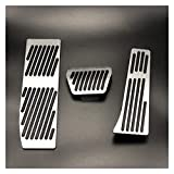 YINHUI Accesorios para automóviles Ajuste para BMW 3 5 Series E30 E32 E34 E36 E38 E39 E46 E87 E90 E91 X5 X3 Z3 MT/A Pedal Pads Cubierta Pegatinas Pegatinas Estilismo de automóvil