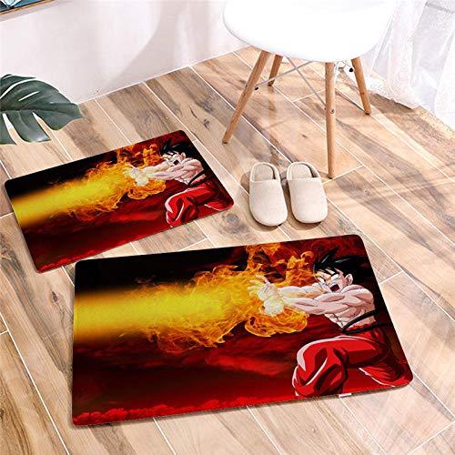 Gedrukte Cartoon Dragon Ball deurmat vloermat bureaustoel antislip badkamer vloerkleden Flanel tapijt hal deurmat-EEN_60 * 90