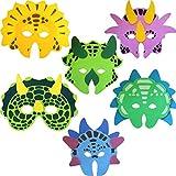 Dinosaurier-Schaum-Maske (Packung mit 6)