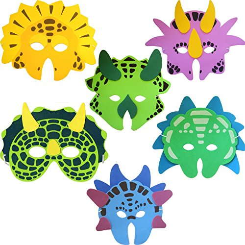 Dinosaure-schuimmasker (verpakking van 6)