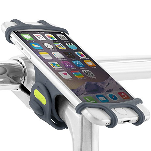 Bone Bike Tie Pro, Universal Bike Phone Mount, Bicycle Stem Handlebar Cell Phone Holder for 4 to 6...