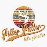 TCT Trading Pitter Patter Let's Get at Er Vinyl Stickers Waterproof Decal Car, Laptop, Bumper Stickers 5'