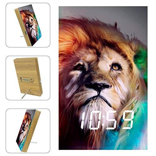JOXFA Lion Agate Perle Bracelet pour Hommes Femmes 8mm Naturel Pierre Mala Perles Roi Lion /Énergie De Gu/érison Courage Charme /Élastique Stretch Mens Perl/é Bracelets Cadeau