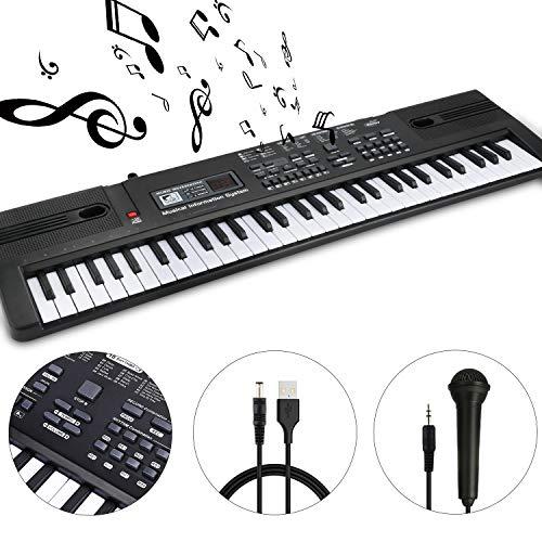 Review Of WOSTOO 61 Key Piano Keyboard Portable Electronic Kids Piano Keyboard Beginner Digital Musi...