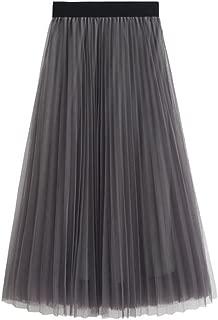 gray long tutu skirt